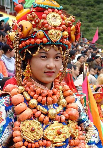 Treasured Khampa Tibetan costume and ornaments (1 of 2)