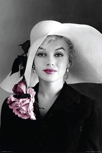 Marilyn Monroe w/ Pink Flower