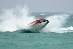 P1-30 Bad Apple Racing Fountain (taddzilla) Tags: ocean fountain waves allrightsreserved p130 offshoreracing superboat deepvee taddfisher miccosukeeindiangaming badappleracing 2010miamisuperboatgrandprix mercurypowered