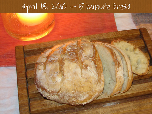 5 minute bread
