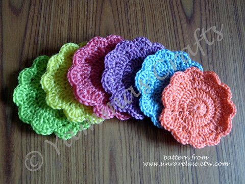 multi coloured coasters by Yammas Cards and Crafts