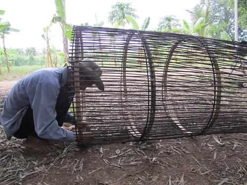 Making a bamboo fish trap on Ko Treung