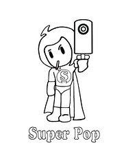 B&W Cartoon Pee Wee Kid Superhero Comic Girl B-Pop SPWK JRC Super Pop (jennytomil) Tags: christmas anime halloween animals japan werewolf punk vampire manga folklore