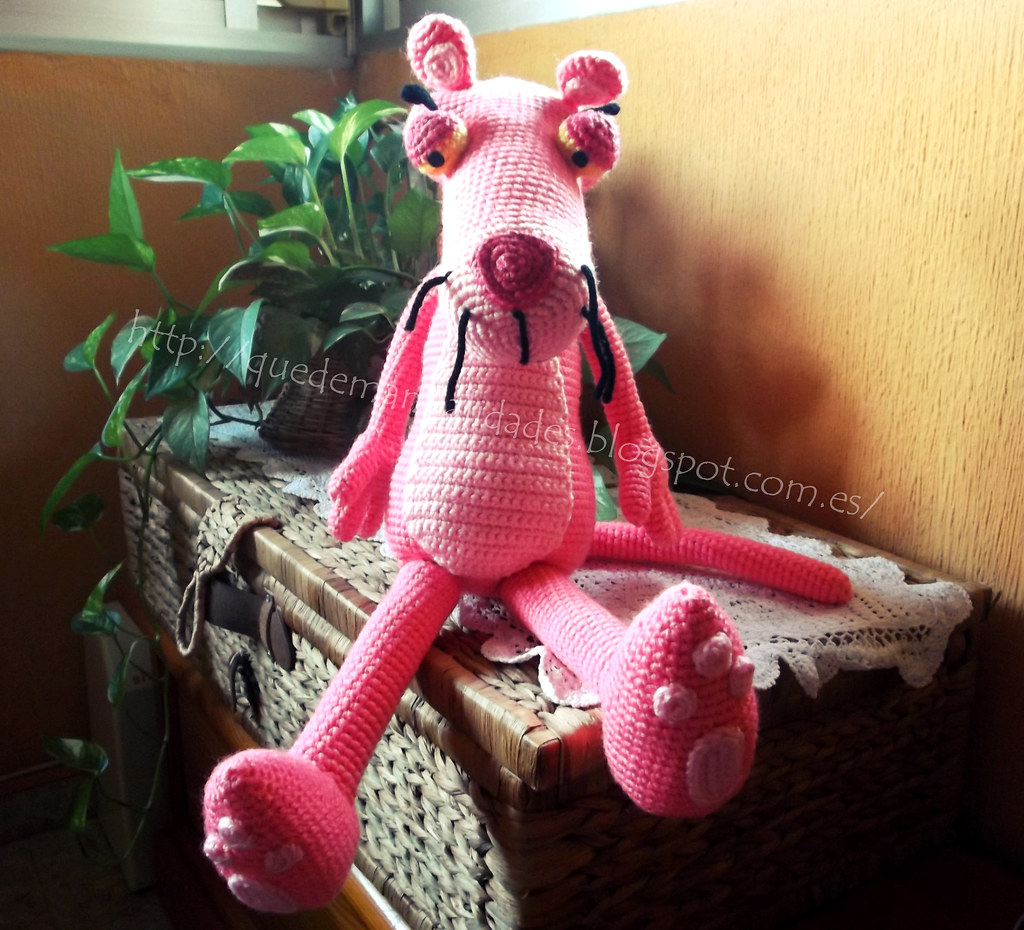 Crochet pink panther | Etsy | 930x1024