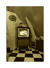 P2220863 (cowsandgirl71) Tags: panasonic fz200 fz 200 lumix monochrome vintage télévision sixty