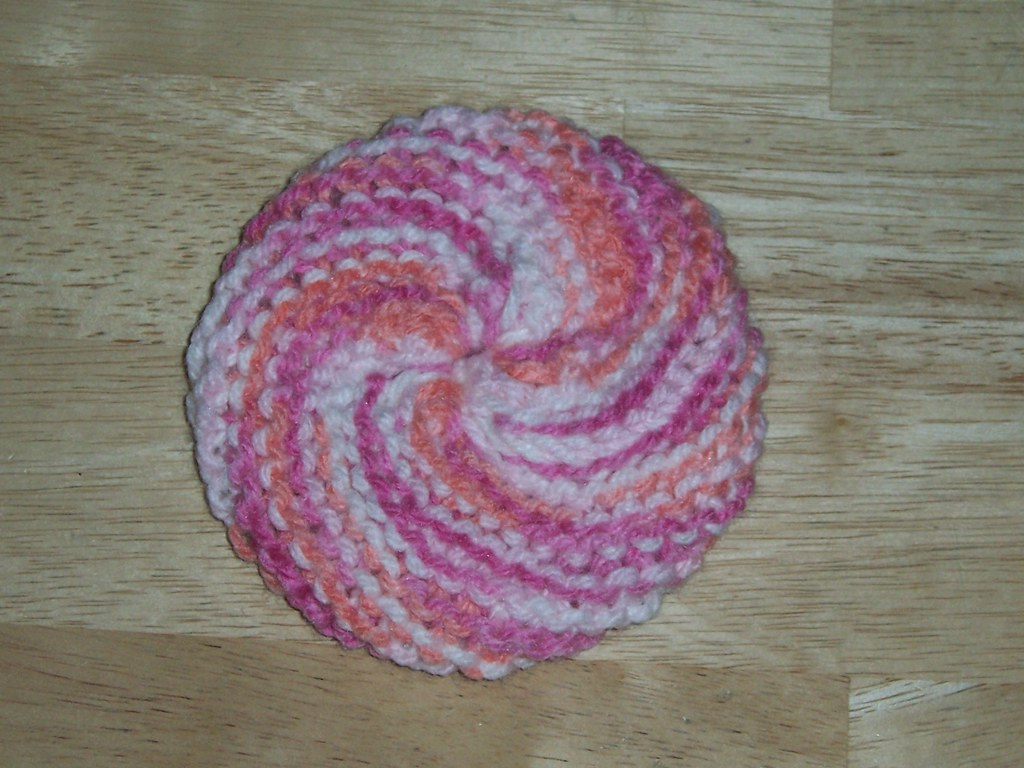 Antibacterial knit dish scrubbie tawashi - available