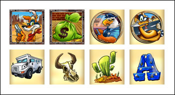 free Coyote Cash slot game symbols