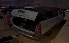 Its in the trunk... (Maureen Bond) Tags: ca lightpainting classic broken car night vintage automobile open desert antique fullmoon workshop trunk junkyard salvage pearsonville maureenbond