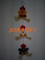 galinhas (SONAUF'S Artesanato em Feltro) Tags: feltro varal galinhas