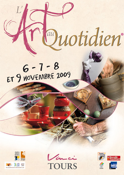 Flyer Art au Quotidien - Tours - 2009