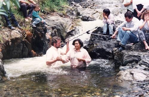 1993 Baptismal at river