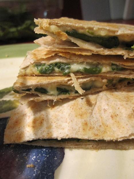 Spinach Hummus Stack