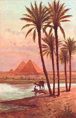 Egypt (letslookupandsmile) Tags: sunset vintage evening twilight postcard egypt cairo thepyramids