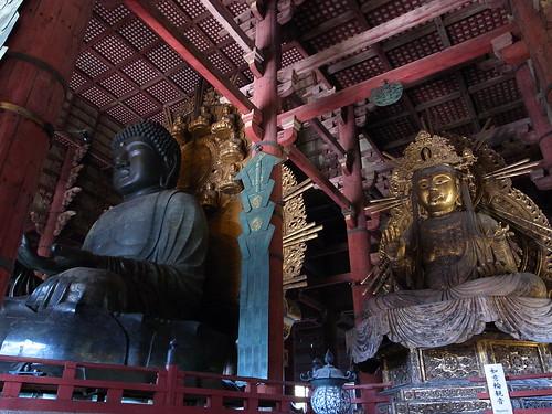 Daibutu with Nyoirin-Kannon in Daibutuden, Nara