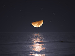 Find your way by Moonlight (SivamDesign) Tags: sea moon reflection night lumix luna panasonic fz8 dmcfz8