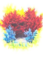 """""""Deep dark places""""2009, Chobbs (charleswesleyhobbs) Tags: watercolor charles hobbs"""