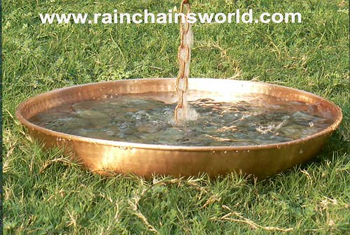 Pure Copper Hammered Anchoring Basin