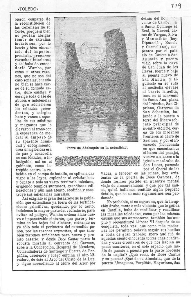 Artículo de Javier Soravilla sobre la Torre del Hierro en 1923. Revista Toledo. Página 2