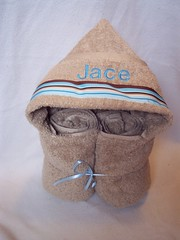 tan/blue stripe (spiritofgiving) Tags: towels custom personalized hooded