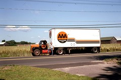 """Mack """"B"""" Model Truck, East Windsor, CT 1985 (63vwdriver) Tags: b tractor barn connecticut ct trailer corp mack tobacco aaa trucking conn eastwindsor route5"""