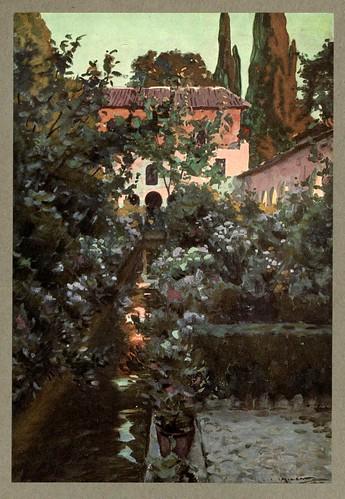 016- El Generalife-An artista in Spain 1914- Michael Arthur C.