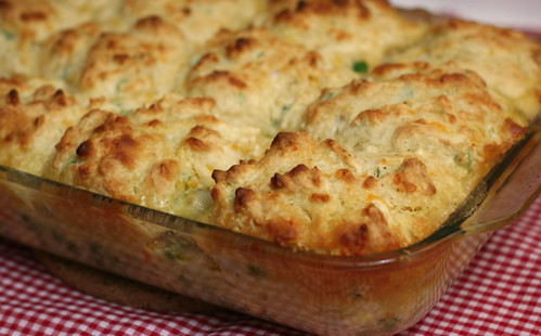 Veggie Pot Pie with Cheddar Biscuits