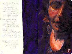 claudia (bornschein) Tags: life blue red portrait love moleskine illustration germany painting person women peace heart quote spirit text mother communication ephemeralicous