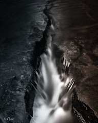 coalesce ([Adam Baker]) Tags: water rock stone canon dark cool warm long exposure break crack gorge balance conceptual cascade mixture cpl fissure 1740l rift adambaker coalescence 5dmarkii