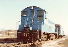 Conrail caboose hop at Brighton Junction. Chicago Illinois. January 1988.