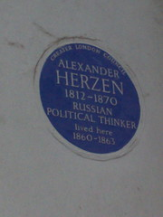 Photo of Alexander Herzen blue plaque