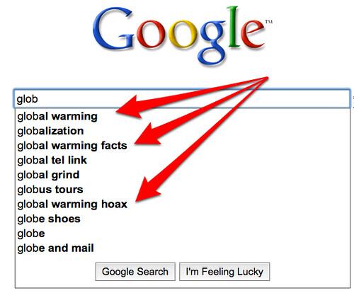 Google Suggest & Climategate