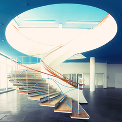 (hans jesus wurst) Tags: blue berlin 6x6 architecture stairs germany square wideangle highlights stairway future futuristic bcc berlinercongresscenter canoneos400d sigma1020mm1456dchsm hansjesuswurst moritzhaase