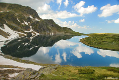 Babreka, one of the Seven Rila Lakes , Bulgaria ,  ,  (.:: Maya ::.) Tags: mountain eye nature clouds landscape maya lakes bulgaria rila seven kidney bulgarie bulgarien         bubreka mayaeyecom mayakarkalicheva  wwwmayaeyecom