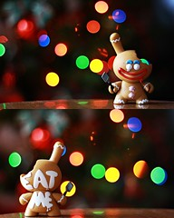 eat me...if you want (lubats) Tags: christmas canon toys 50mm bokeh kidrobot dunny kronk canoniani canoneos1000d beyondbokeh