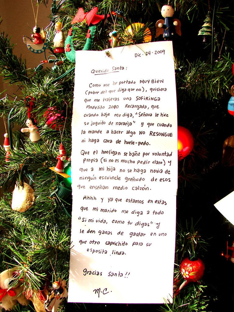Yo ya hice mi cartita para Santa Claus