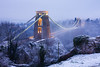 Wintery Clifton bridge (LongLensPhotography.co.uk - Daugirdas Tomas Racys) Tags: bridge winter england white mist snow cold color colour fall ice car weather fog river bristol lights evening frost suspension dusk trails illumination landmark led arctic gorge condensation bluehour avon clifton hotwells tokina1224mm
