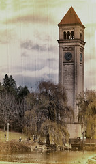Clock Tower (twbphotos) Tags: park tower clock washington spokane downtown clocktower riverfront terrybell twbphotos