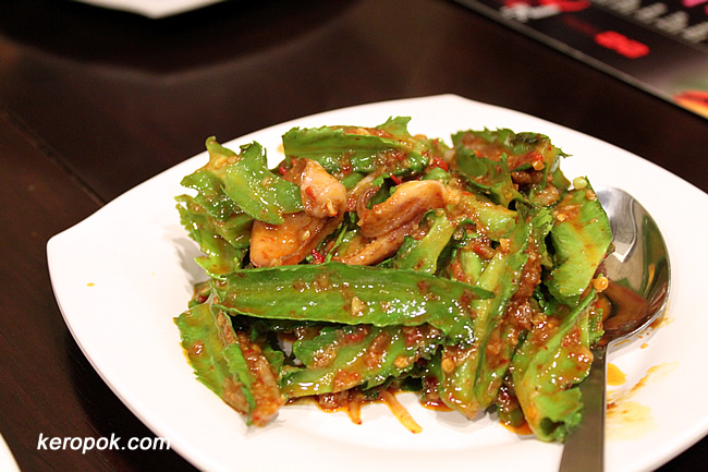 Winged Bean with Cuttlefish and Chili
