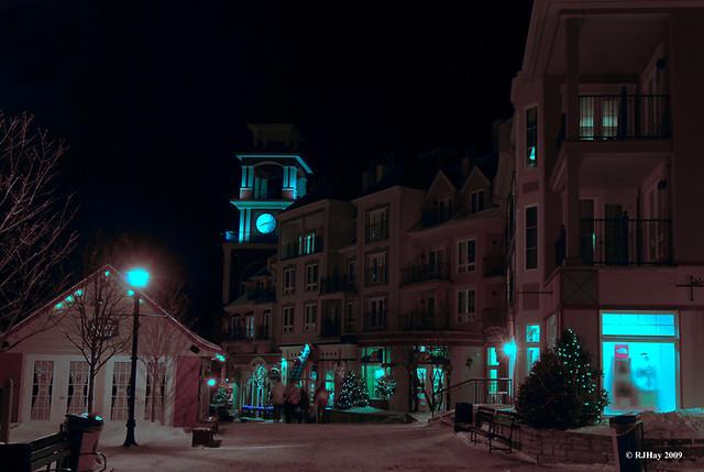 Nightime in Mont Tremblant ski resort