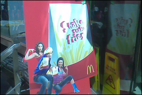 Shake shake fries at McDonald's