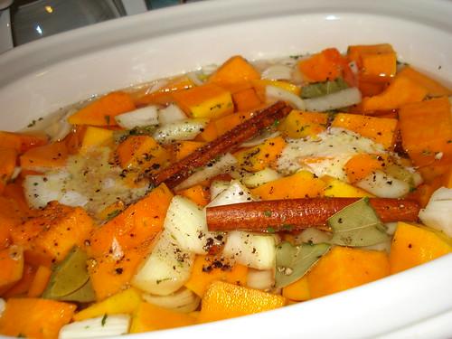 Squash Soup cooking