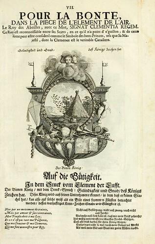 009- Divisa del tapiz el aire para la bondad-Tapisseries du roy, ou sont representez les quatre elemens 1690- Sebastien Le Clerc