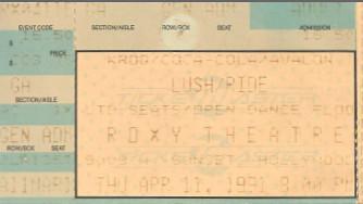 Lush/Ride/Roxy