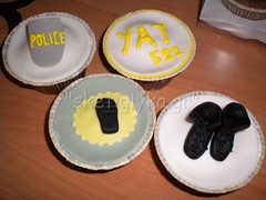 Police cupcakes (Niki SG) Tags: art cakes cookies cupcakes sugar baptism sugarpaste     sketiglyka