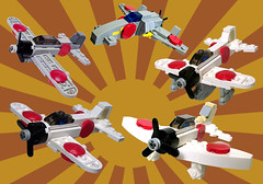 Imperial Japanese airwing (tbone_tbl) Tags: scale japan plane airplane japanese fighter lego kate military wwii navy dive mini val micro imperial bomber zero shinden militery micr rufe miniscale