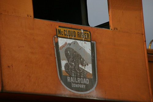 Mccloud River Railroad. The McCloud River Railroad Company logo on an old caboose in the McCloud railyard. I really like the logo.