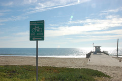 The Beginning (or The End) (loudguitars) Tags: ocean beach sign pacific lifeguardstand marvinbraudebiketrail