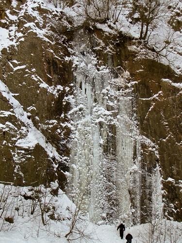 The Skåne ice testpice Järnvägsfossen WI6