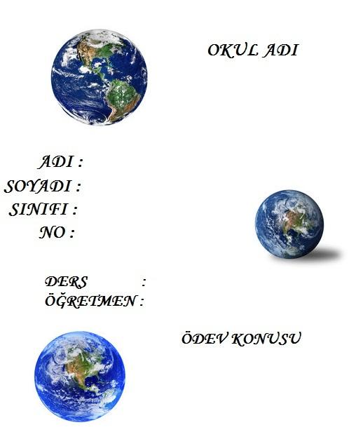 Dünyanın katmanları ile ilgili ödev kapağı