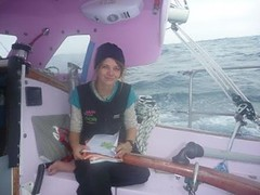 Doing some schoolwork when the sun came out yesterday - well, trying to anyway! (Jessica_Watson) Tags: sailing solo aroundtheworld 16yearold unassisted jessicawatson settingouttobetheyoungestpersontosailsolononunassistedaroundtheworld jessicawatsonsailingsolounassistedaroundtheworld16yearoldsettingouttobetheyoungestpersontosailsolonon unassistedaroundtheworld